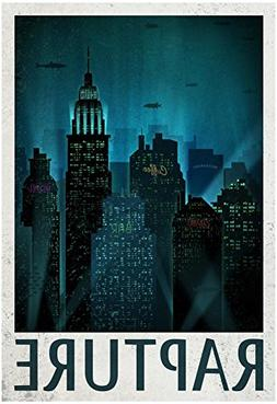 Rapture Retro Travel Poster 13 x 19in by Poster Revolution