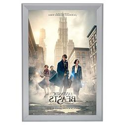 "SnapeZo Movie Poster Frame 24x36 Inches, Silver 1.7"" Aluminu"