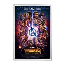 """SnapeZo Movie Poster Frame 27x40 Inches, Silver 1.2"""" Aluminu"""