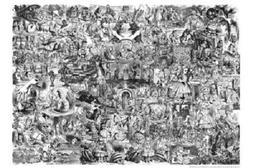 """Alice in Wonderland movie poster 24x36"""" Art collage black an"""