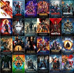 All 24 Marvel MCU Movie Posters Avengers Endgame Iron Man Th
