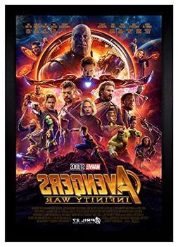 """Avengers Infinity War Movie Poster 24""""x36"""" Framed Poster"""