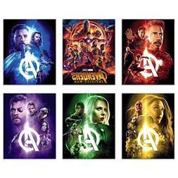 Avengers Infinity War Movie Poster Prints 8x10 - Set of Six