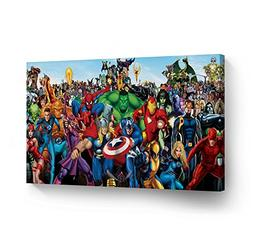 SmileArtDesign WALL ART CANVAS PRINT Marvel Heroes Super Her