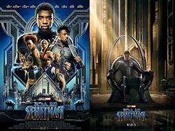 New Black Panther movie Set of 2 Character Posters 27x40