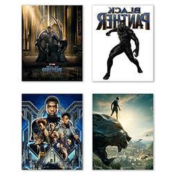 Black Panther  Movie Poster Prints - Set of 4 Avengers Marve