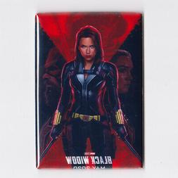 "BLACK WIDOW / ILLUSTRATED - 2"" x 3"" MOVIE POSTER MAGNET"