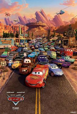 CARS MOVIE POSTER Double Sided ORIGINAL FINAL 27x40 OWEN WIL