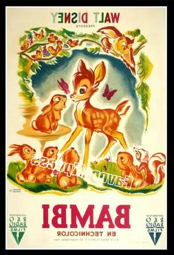 DISNEY BAMBI Movie Poster Photo MAGNET ~Thin flexible 4x2.7""