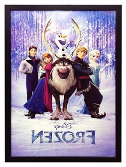 Disney Frozen Framed Movie Poster Print 24x36. On a Black Fr