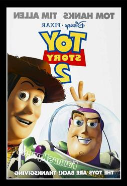 DISNEY TOY STORY 2 Movie Poster Photo MAGNET ~thin, flexible