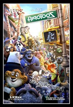 DISNEY ZOOTOPIA MOVIE Poster Photo MAGNET ~thin, flexible 4x
