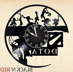 DOTA Handmade Vinyl Record Wall Clock - Get unique home room