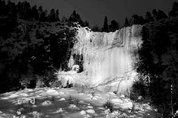 Finland A frozen waterfall in the Korouoma Gorge - Art Print