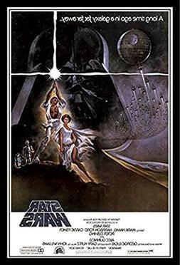 Star Wars: A New Hope Vintage 24x36 Wood Framed Poster Mov