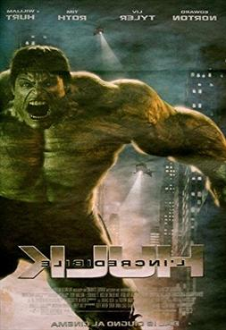 The Incredible Hulk Poster Movie Italian 11x17 Edward Norton