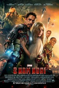 Iron Man 3 Movie Poster Print Wall Art 8x10 11x17 16x20 22x2