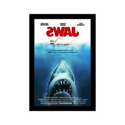 JAWS - 11x17 Framed Movie Poster by Wallspace
