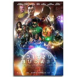 Justice League All Superheroes DC Movie Silk Poster Batman W