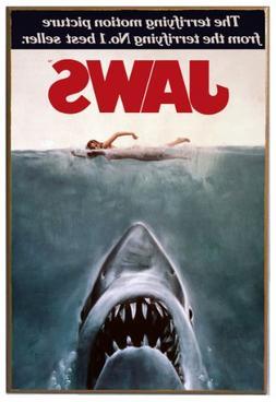 Silver Buffalo JW0136 Jaws Movie Poster Wood Wall Decor, 13