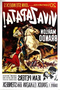 kazan VIVA ZAPATA movie poster MEXICAN REVOLUTION marlon BRA