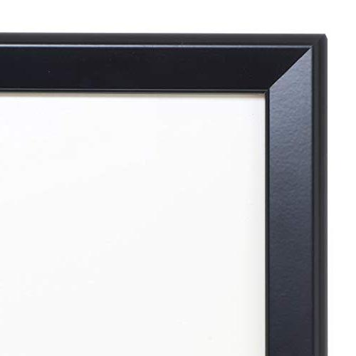 SnapeZo 24x36 Inches, Black Aluminum Profile, Front-Loading Frame, Mounting, Series