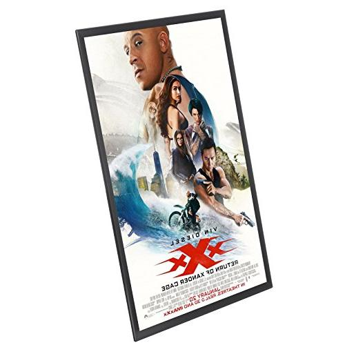 """SnapeZo Movie Frame 24x36 Inches, 1.25"""" Aluminum Frame, Mounting, Series"""