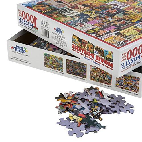White Classic Posters 1,000 Piece Jigsaw