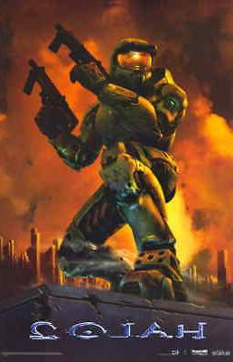 halo 2 11x17 movie poster licensed new