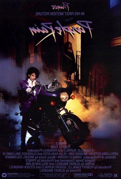 "PURPLE RAIN Movie Poster  27x40"" Theater Size  1984"