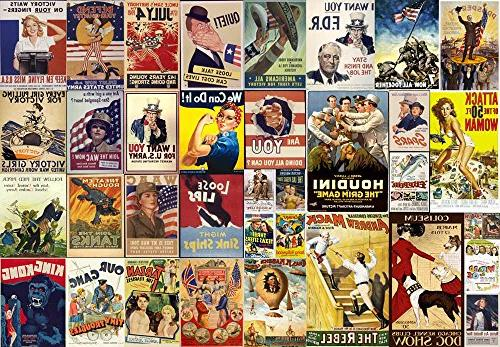 wall26 Stick Posters Vintage Movie Removable