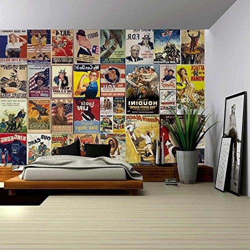wall26 - Peel and Stick Wallpapaer - American Posters Collag