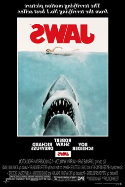 Laminated Jaws Movie Shark Poster Print 24x36