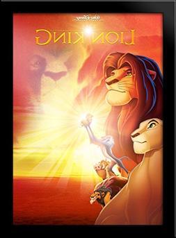 Lion King 28x38 Large Black Wood Framed Print Movie Poster A