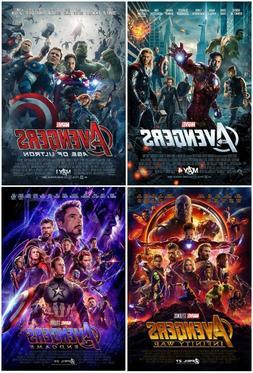 Marvel Avengers Age of Ultron Infinity War Endgame Movie Pos