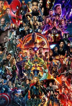 Marvel MCU Movie Collage Poster Avengers Endgame Iron Man Th