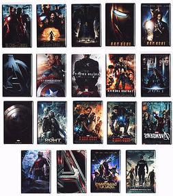 "MARVEL MOVIE POSTER 2"" x 3"" MAGNETS (iron man thor hulk capt"