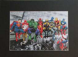 Marvel Superheroes 8x10 matted Art Print Printed Poster Deco