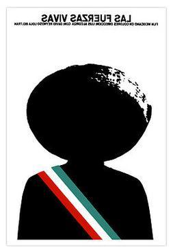 """Mexico movie Poster 4 film""""Las FUERZAS vivas""""Mexican revolut"""