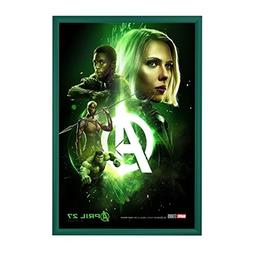 "SnapeZo Movie Poster Frame 24x36 Inches, Green 1.2"" Aluminum"