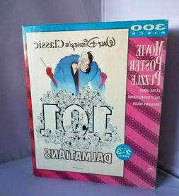 NEW Disney 101 Dalmatians Movie Poster Puzzle 300 Piece Gold