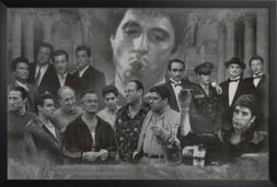 Professionally Framed Gangsters Collage Godfather Goodfellas