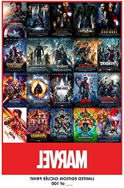 RARE POSTER thick MARVEL CINEMATIC UNIVERSE movie 2018 all 2