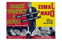 REBEL WITHOUT A CAUSE movie poster JAMES DEAN NATALIE WOOD t