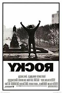 rocky black and white movie poster 24x36