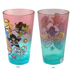 Sailor Moon OFFICIAL Pint Glass, 16oz Blue/Pink