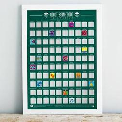 scratch off bucket list 100 things to