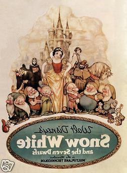 Snow White & the 7 dwarfs #15 cartoon movie poster print
