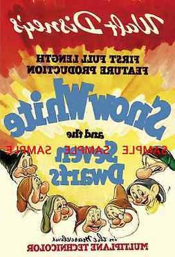 "Snow White & the Seven Dwarfs  11"" x 17"") Movie Collector's"