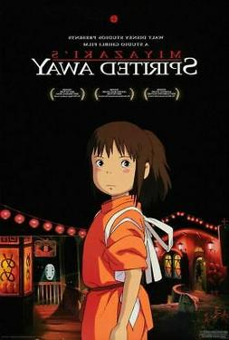 SPIRITED AWAY MOVIE POSTER, ORIGINAL DOUBLE SIDED size 27x40